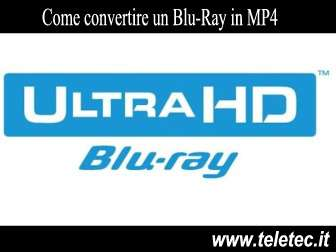 Come Convertire un Blu-Ray in MP4