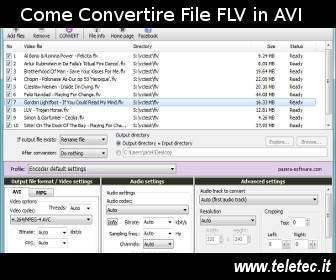Come convertire un file flv o swf in avi o mpeg