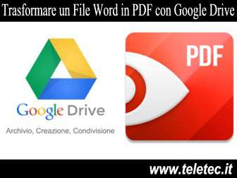 Come Convertire un File Word in PDF con Google Drive
