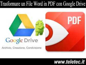 Come Convertire un File Word in PDF con Google Drive su Android