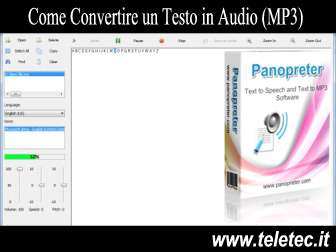 Come Convertire un Testo in Audio (MP3)