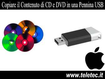 Come Copiare Files e Cartella da CD e DVD in una Pennina USB con il MAC