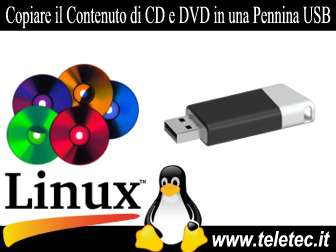 Come Copiare Files e Cartella da CD e DVD in una Pennina USB con Linux