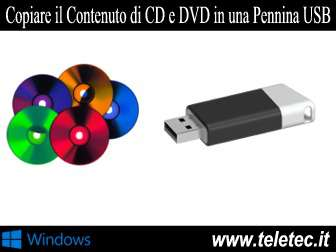 Come Copiare Files e Cartella da CD e DVD in una Pennina USB con Windows
