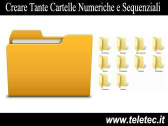Come Creare con un Click tante Cartelle Numeriche e Sequenziali su Windows - VBScript