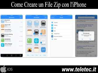 Come Creare e Aprire un File Zip o Rar con l'iPhone