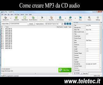 Come Creare MP3 da CD Audio