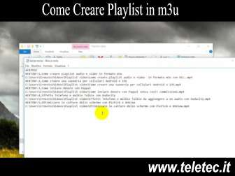 Come Creare Playlist Audio o Video in M3U