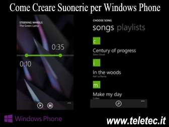 Come Creare Suonerie per Windows Phone