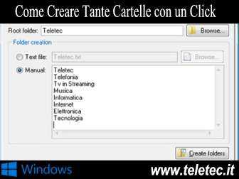 Come Creare Tante Cartelle con un Click o da un File con Windows
