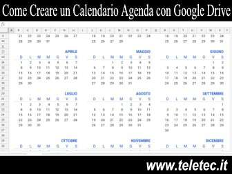 Come Creare un Calendario Agenda con Google Drive