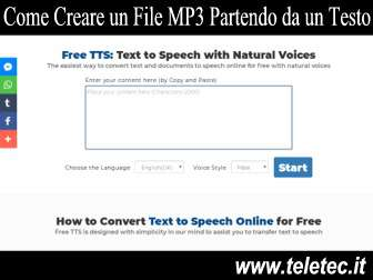 Come Creare un File MP3 Partendo da un Testo - Free TTS