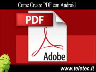 Come Creare un File PDF con Android