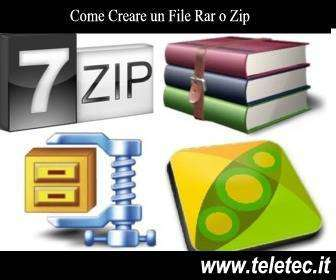 Come Creare un File Rar, Zip o Tar.gz