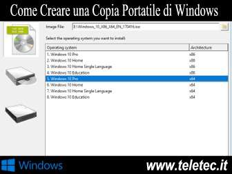 Come creare una copia portatile di windows  wintousb