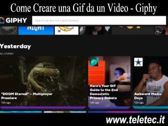 Come Creare una Gif da un Video - Giphy