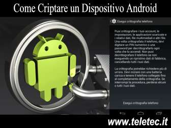 Come Criptare un Dispositivo Android