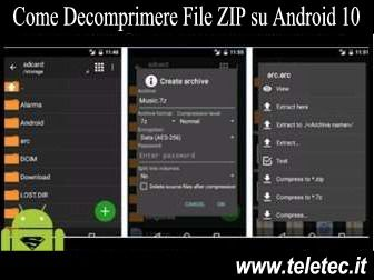Come Decomprimere File ZIP su Android 10