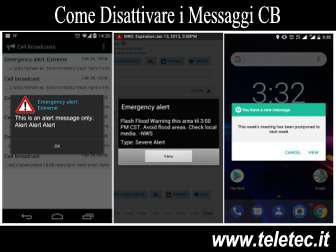 Come Disabilitare le Notifiche Cell Broadcast su Android