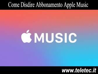 Come Disdire l'Abbonamento ad Apple Music