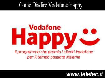 Come Disdire Vodafone Happy
