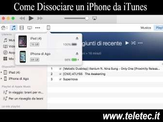 Come Dissociare un iPhone da iTunes