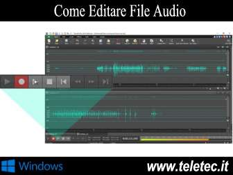 Come Editare un File Audio - WavePad