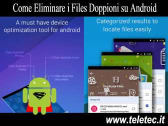 Come eliminare i files doppioni su android