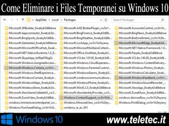 Come Eliminare i Files Temporanei in Windows 10