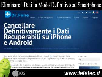 Come Eliminare in Modo Definitivo Dati su iPhone e Android - DrFone