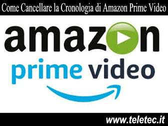 Come Eliminare la Cronologia di Amazon Prime Video