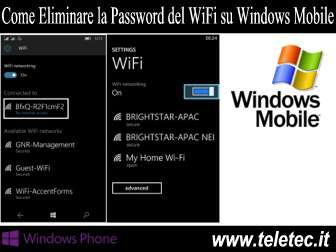 Come Eliminare la Password del WiFi su Smartphone con Windows