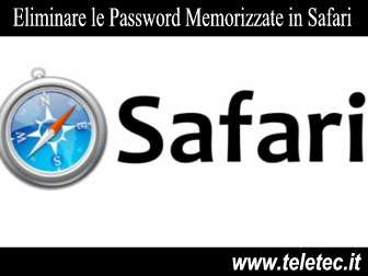Come Eliminare le Password Memorizzate in Safari