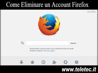 Come eliminare un account firefox