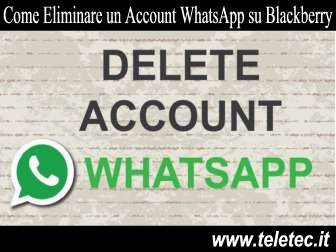 Come eliminare un account whatsapp su blackberry