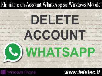 Come Eliminare un Account WhatsApp su Windows Phone