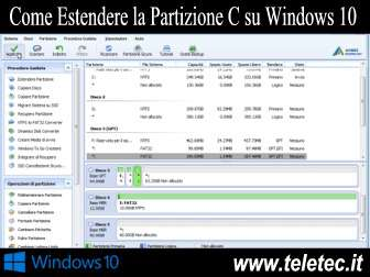 Come Estendere la Partizione C su Windows 10