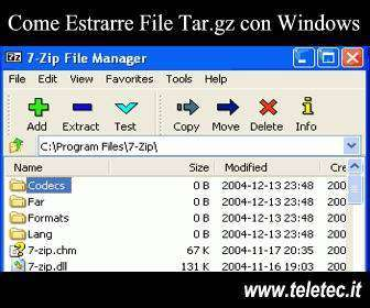 Come Estrarre File Tar.gz con Windows