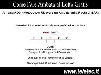 Come Fare Ambata al Lotto Gratis