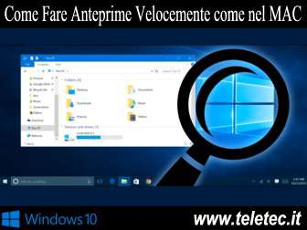 Come Fare Anteprime Velocemente su Windows come nel MAC