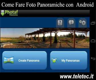 Come Fare Foto Panoramiche con Android
