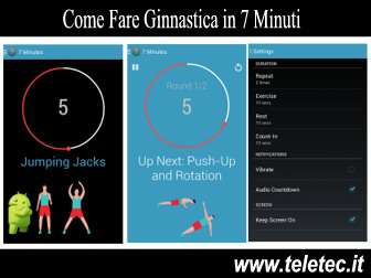 Come Fare Ginnastica in 7 Minuti con lo Smartphone Android - 7 Minute Workout