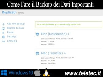 Come Fare il Backup dei Dati Importanti su Windows, Linux e Mac - Duplicati