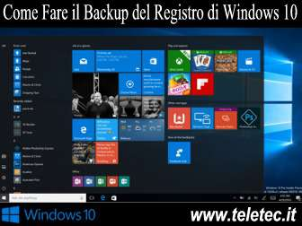 Come Fare il Backup del Registro di Windows 10