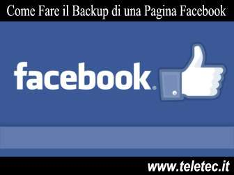 Come Fare il Backup di una Pagina Facebook
