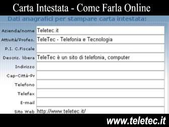 Come Fare la Carta Intestata Online