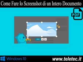 Come Fare lo Screenshot di un Intero Documento PDF su Windows