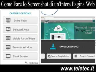 Come Fare lo Screenshot di un'Intera Pagina Web