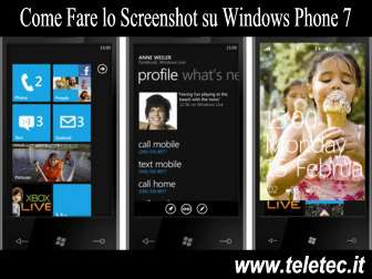 Come Fare lo Screenshot su Windows Phone 7