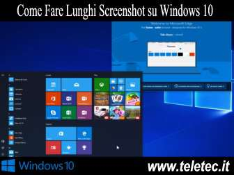 Come Fare Lunghi Screenshot su Windows 10